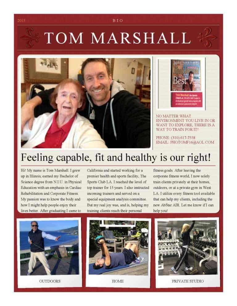 Tom Marshall biography