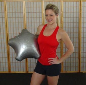 Nichole Mellison with the Exercise Star | Exercise Star